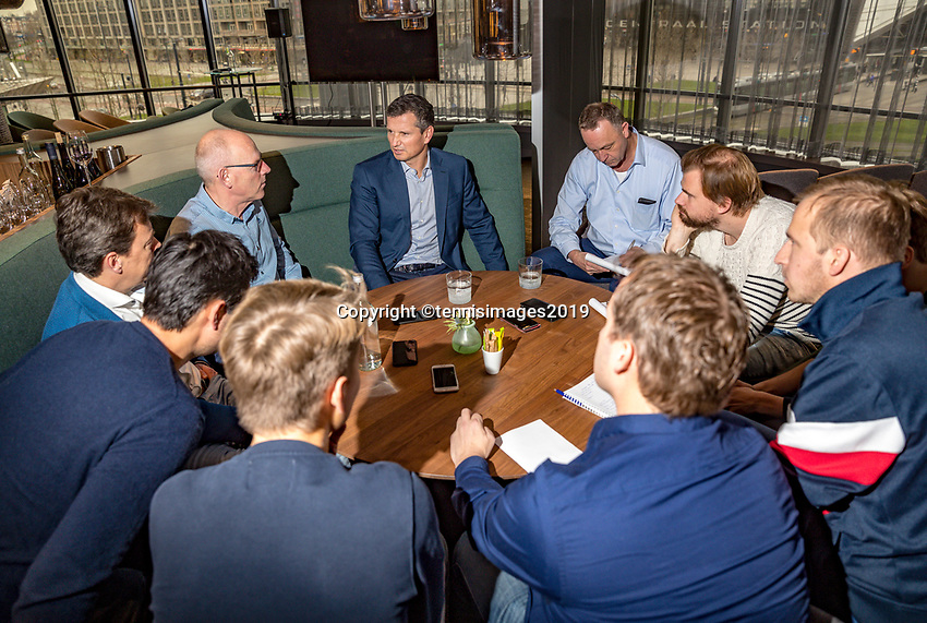 Rotterdam, The Netherlands, 10 Januari 2019, ABNAMRO World Tennis Tournament, Pressconference, Tournament Director : Richard Krajicek talks to the press<br /> Photo: www.tennisimages.com/Henk Koster