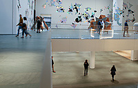 NEW YORK NY - OCTOBER 17: People attend a media preview on the newly-expanded Museum of Modern Art on New York City on October 17, 2019. The museum reopens to the public on Monday, Oct. 21 after $450 million expansion (Photo by Kena Betancur/VIEWpress)