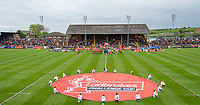 Picture by Allan McKenzie/SWpix.com - 13/05/2017 - Rugby League - Ladbrokes Challenge Cup - Castleford Tigers v St Helens - The Mend A Hose Jungle, Castleford, England - Castleford & St Helens come onto the field for their Ladbrokes Challenge Cup tie, Ladbrokes, branding.