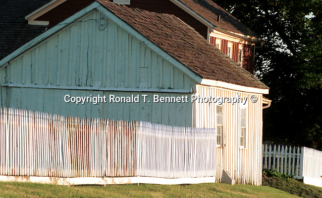 White picket fence and barn Commonwealth of Virginia, Fine Art Photography by Ron Bennett, Fine Art, Fine Art photography, Art Photography, Copyright RonBennettPhotography.com ©