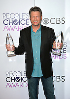 Blake Shelton at the 2017 People's Choice Awards at The Microsoft Theatre, L.A. Live, Los Angeles, USA 18th January  2017<br /> Picture: Paul Smith/Featureflash/SilverHub 0208 004 5359 sales@silverhubmedia.com