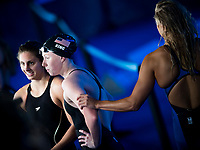 MEILUTYTE Ruta LTU greets KING Lilly USA gold medal and  MEILI Katie USA silver medal<br /> swimming<br /> Women's 100m breaststroke final<br /> day 12 25/07/2017 <br /> XVII FINA World Championships Aquatics<br /> Photo © Giorgio Perottino/Deepbluemedia/Insidefoto