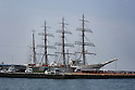 The Nippon Maru Tall Sailing Ship in Dock in Matsuyama