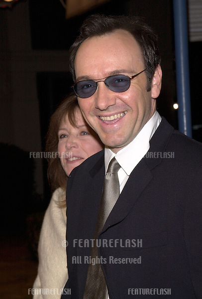 "12DEC99:  Actor KEVIN SPACEY &friend DIANE DRYER at the Los Angeles premiere of ""The Talented Mr. Ripley."".© Paul Smith / Featureflash"