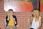 """General Hospital's Kelly Sullivan """"Kate""""(R) and Jen Lilley """"ex-Maxie"""" at Uncle Vinnie's Comedy Club on September 9, 2012 in Pt. Pleasant, New Jersey to see their fans for autographs, meet/greet and photos.  (Photo by Sue Coflin/Max Photos)"""
