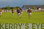 Darragh O'Connell (Abbeydorney) in action with Fergus Carroll (causeway) in the final of the North Kerry Hurling League on Sunday evening at Kilmoyley GAA Grounds.