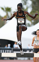 Irene Kiamayo of Kenya ran 9:50.55 in the 3000m Steeplechase at the Adidas Track Classic on Saturday, May 16, 2009. Photo by Errol Anderson,The Sporting Image.net