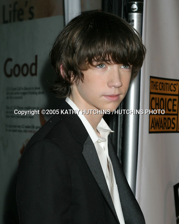 ©2005 KATHY HUTCHINS /HUTCHINS PHOTO.10TH ANNUAL CRITICS CHOICE AWARDS.WILTERN THEATER.LOS ANGELES, CA.JANUARY 10, 2005..LIAM AIKEN