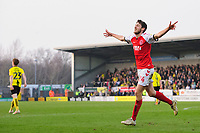 Fleetwood Town's Ashley Nadesan celebrates scoring the opening goal <br /> <br /> Photographer Chris Vaughan/CameraSport<br /> <br /> The EFL Sky Bet League One - Saturday 23rd February 2019 - Burton Albion v Fleetwood Town - Pirelli Stadium - Burton upon Trent<br /> <br /> World Copyright © 2019 CameraSport. All rights reserved. 43 Linden Ave. Countesthorpe. Leicester. England. LE8 5PG - Tel: +44 (0) 116 277 4147 - admin@camerasport.com - www.camerasport.com