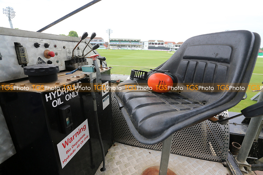 General view of the Blotter controls ahead of Kent Spitfires vs Essex Eagles, Royal London One-Day Cup Cricket at the St Lawrence Ground on 17th May 2017