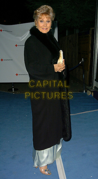 ANGELA RIPPON.British Red Cross Ball Arrivals, London, UK..November 17h, 2005.Ref: CAN.full length black coat fur trimmed.www.capitalpictures.com.sales@capitalpictures.com.©Capital Pictures