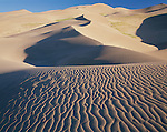 Great Sand Dunes National Monument, CO:  Dune patterns in morning light