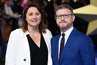 "Victoria Alonso and Jonathan Schwartz<br /> arriving for the ""Captain Marvel"" European premiere at the Curzon Mayfair, London<br /> <br /> ©Ash Knotek  D3484  27/02/2019"