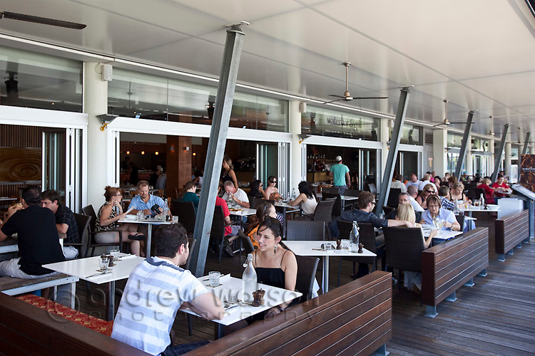 Diners at Waterbar & Grill.  The Pier, Cairns, Queensland, Australia