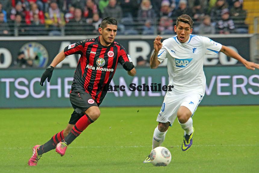 Carlos Zambrano (Eintracht) gegen Roberto Firmino (Hoffenheim) - Eintracht Frankfurt vs. TSG 1899 Hoffenheim, Commerzbank Arena