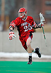 1 April 2008: Fairfield University Stags' Attackman Grant Devilbiss, a Freshman from Columbus, OH, in action against the University of Vermont Catamounts at Moulton Winder Field, in Burlington, Vermont. The Catamounts rallied to overcome a five goal deficit and defeat the visiting Stags 9-8 notching their third win of the season...Mandatory Photo Credit: Ed Wolfstein Photo