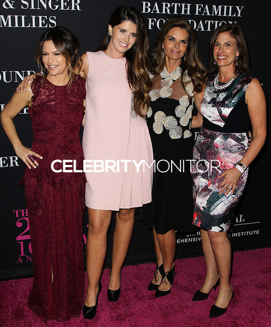 SANTA MONICA, CA, USA - OCTOBER 18: Elyse Walker, Katherine Schwarzenegger, Maria Shriver, Dr. Beth Karlan arrive at Elyse Walker's 10th Annual Pink Party held at Santa Monica Airport HANGAR:8 on October 18, 2014 in Santa Monica, California, United States. (Photo by Celebrity Monitor)