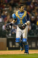 Catcher Steve Rodriguez #3 of the UCLA Bruins on defense versus the Baylor Bears in the 2009 Houston College Classic at Minute Maid Park February 28, 2009 in Houston, TX.  The Bears defeated the Bruins 5-1. (Photo by Brian Westerholt / Four Seam Images)