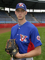 July 31, 2004:  Pitcher Jim Henderson of the Vermont Expos during a game at Russell Diethrick Park in Jamestown, NY.  Vermont is the Short Season Single-A NY-Penn League affiliate of the Montreal Expos (Washington Nationals).  Photo By Mike Janes/Four Seam Images