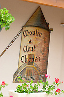 wind mill sign domaine h lapierre beaujolais burgundy france