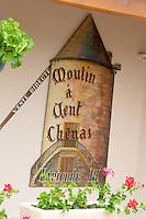 wind mill sign domaine h lapierre beaujolais burgundy france