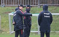 Co-Trainer Robert Kovac (Eintracht Frankfurt) und Trainer Niko Kovac (Eintracht Frankfurt) mit Co-Trainer Armin Reuthershahn (Eintracht Frankfurt) - 04.04.2018: Eintracht Frankfurt Training, Commerzbank Arena