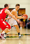 21 January 2010: University of Vermont Catamount guard Nick Vier, a Senior from Franklin Lakes, NJ, in action during a game against the Stony Brook University Seawolves at Patrick Gymnasium in Burlington, Vermont. The Catamounts fell to the Seawolves 65-60 in the America East matchup. Mandatory Credit: Ed Wolfstein Photo