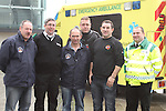Reg Tester, Gerry Matthews, Phillip Whelan, Anthony Kenny, Michael Francis and Eugene Kierans at the St.Johns Ambulance demonstration at Scotch Hall...Picture Jenny Matthews/Newsfile.ie