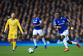 17th March 2019, Goodison Park, Liverpool, England; EPL Premier League Football, Everton versus Chelsea; Idrissa Gueye of Everton races forward with the ball