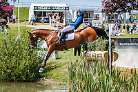 AUS-Catherine Burrell rides Duke during the Cross Country for the CCI4*-S Section C. Final-12th. 2019 GBR-Barbury Castle International Horse Trial. Wiltshire, Great Britain. Sunday 7 July. Copyright Photo: Libby Law Photography