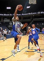 D'Angelo Harrison at the NBPA Top100 camp June 19, 2010 at the John Paul Jones Arena in Charlottesville, VA. Visit www.nbpatop100.blogspot.com for more photos. (Photo © Andrew Shurtleff)