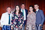 Paul and Marie Geaney Kevin Moran, Carena and Paul Carmody at the Castleisland AFC gala in the River Island Hotel on Saturday night
