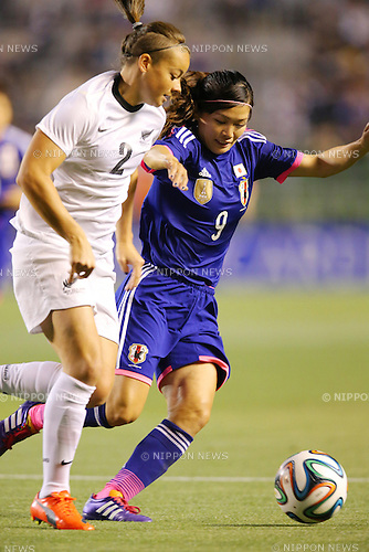 Nahomi Kawasumi (JPN), <br /> MAY 6, 2014 - Football /Soccer :  <br /> International friendly match<br /> between Japan 2-1 New Zealand <br /> at Kincho Stadium, Osaka, Japan. (Photo by Yohei Osada/AFLO SPORT)