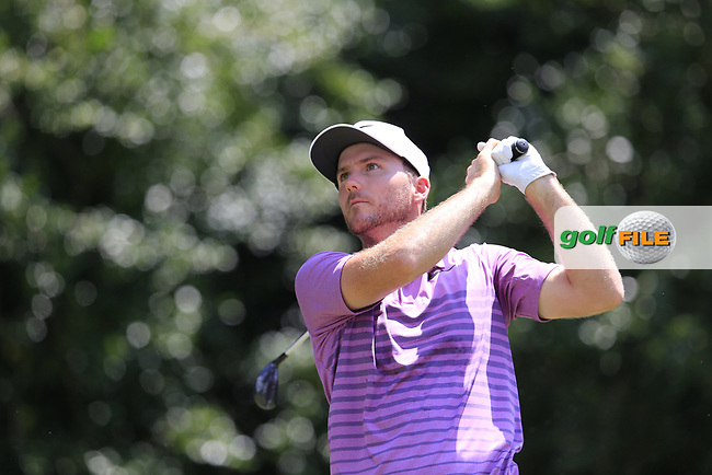 Russell Henley (USA) tees off the 14th tee during Thursday's Round 1 of the 2017 PGA Championship held at Quail Hollow Golf Club, Charlotte, North Carolina, USA. 10th August 2017.<br /> Picture: Eoin Clarke | Golffile<br /> <br /> <br /> All photos usage must carry mandatory copyright credit (&copy; Golffile | Eoin Clarke)