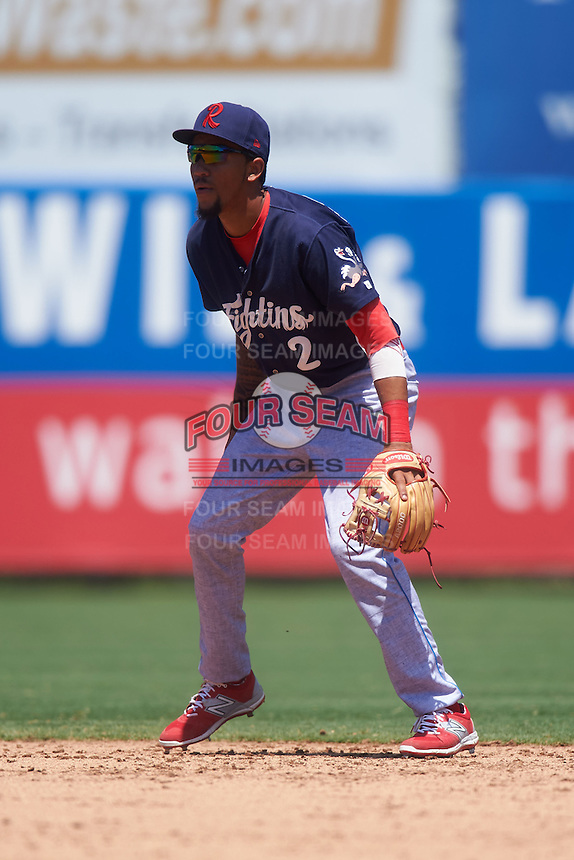 Reading Fightin Phils shortstop J.P. Crawford (2) during a game against the Bowie Baysox on July 22, 2015 at Prince George's Stadium in Bowie, Maryland.  Bowie defeated Reading 6-4.  (Mike Janes/Four Seam Images)