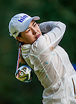 In-Gee Chun of Korea plays a shot during the Hyundai China Ladies Open 2014 at World Cup Course in Mission Hills Shenzhen on December 13 2014, in Shenzhen, China. Photo by Xaume Olleros / Power Sport Images