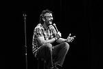 Comedian Marc Maron gets intimate with the audience during his set at the Rooftop Comedy Festival at the Wheeler Opera House.