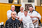 "Top 5 chefs AKA ""The Culinary Gansters Tralee"" who cooked up a delight at the Ardfert National school fundraiser at the Ballyroe Heights Hotel. Back row: to R: Peter Curran, Massimiliano Bagaglini and Noel Keane. Front: Markus Ediner and Kevin O'Connor."
