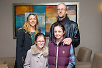 Grainne O'Donovan, Saibh O'Donovan, Brian O,Donovan and Saoirse O'Donovan enjoying the Kerry School of Music Concert at Ballyroe Heights on Sunday