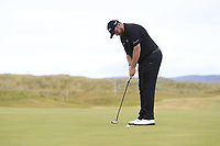 Shane Lowry (IRL) on the 16th green during Round 3 of the Dubai Duty Free Irish Open at Ballyliffin Golf Club, Donegal on Saturday 7th July 2018.<br /> Picture:  Thos Caffrey / Golffile