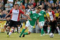 LEER - Voetbal , Werder Bremen - FC Emmen, oefenduel, seizoen 2018--2019, 04-09-2018, FC Emmen speler Wouter Marinus met Sebastiaan Langkamp
