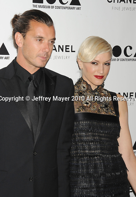 LOS ANGELES, CA. - November 13: Gavin Rossdale and Gwen Stefani arrive at MOCA Presents: Envisioned By Artist Doug Aitken at MOCA Grand Avenue on November 13, 2010 in Los Angeles, California.
