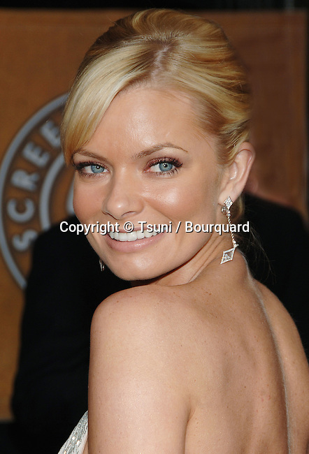 Jamie Pressly arriving at the 12th Annual Screen Actors Guild Awards® at the Shrine Auditorium In Los Angeles, Sunday January 29, 2006