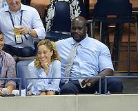 FLUSHING NY- SEPTEMBER 06: Shaquille O'Neal is seen watching Novak Djokovic Vs Jo Wilfred Tsonga on Arthur Ashe Stadium at the USTA Billie Jean King National Tennis Center on September 6, 2016 in Flushing Queens. Credit: mpi04/MediaPunch