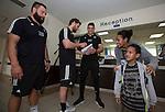 Joe Royal (L), Tawera Kerr-Barlow, Ben May. Suva Children's Hospital. Suva, Fiji. July 10 2015. Photo: Marc Weakley
