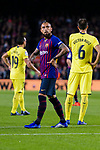 Arturo Vidal of FC Barcelona (C) in action during the La Liga 2018-19 match between FC Barcelona and Villarreal at Camp Nou on 02 December 2018 in Barcelona, Spain. Photo by Vicens Gimenez / Power Sport Images
