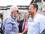 Padraic Kierans meets An Taoiseach leo Varadkar at Fleadh Ceoil na hEireann. Photo:Colin Bell/pressphotos.ie
