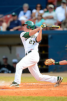University of Alabama at Birmingham Blazers outfielder Griffin Gum #27 at bat during a game against the Dartmouth Big Green at Chain of Lakes Stadium on March 17, 2013 in Winter Haven, Florida.  Dartmouth defeated UAB 4-0.  (Mike Janes/Four Seam Images)
