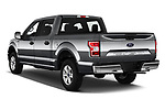 Car pictures of rear three quarter view of a 2020 Ford F-150 XLT 4 Door Pick Up angular rear