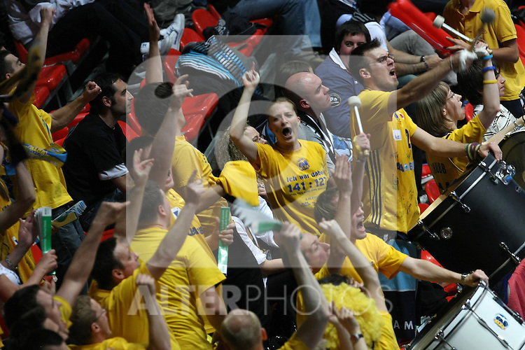 Alba Berlin's supporters during Eurocup Basketball Finals match. April 17, 2010. (ALTERPHOTOS/Acero)